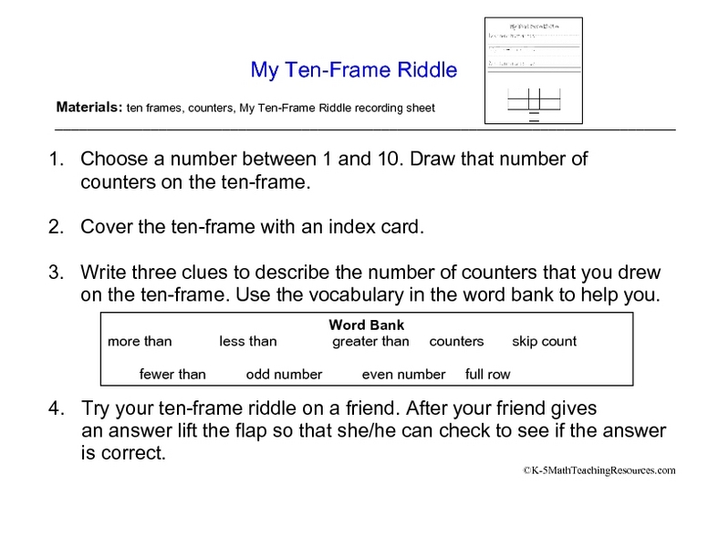 All Worksheets Printable Ten Frame Worksheets Free Printable – Tens Frames Worksheets
