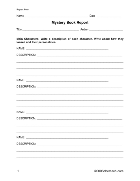 mystery book report 4th grade Investigating the mystery genre | scholasticcom (3rd grade) mystery unit: graphic organizers - use these activities with any mystery book with your 2nd and 3rd grade classroom and home school students mystery genre book report from learnandgrowdesigns on teachersnotebookcom (12 pages) - my.