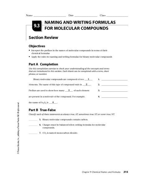 writing formulas and naming compounds worksheet free worksheets library download and print. Black Bedroom Furniture Sets. Home Design Ideas