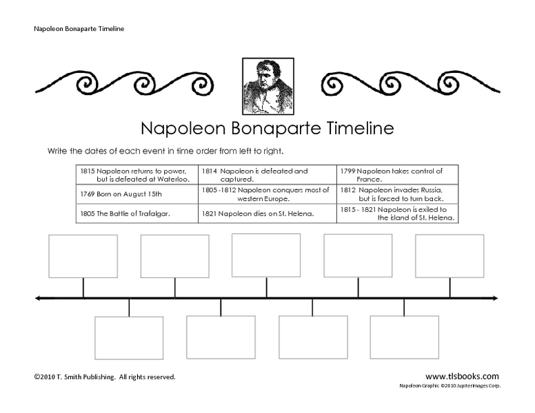Timeline Worksheets 3rd Grade - Karibunicollies