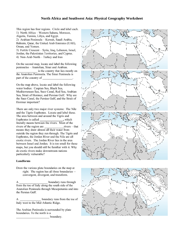 this landforms worksheets allows students to match the names of blank landforms worksheets at mspartners