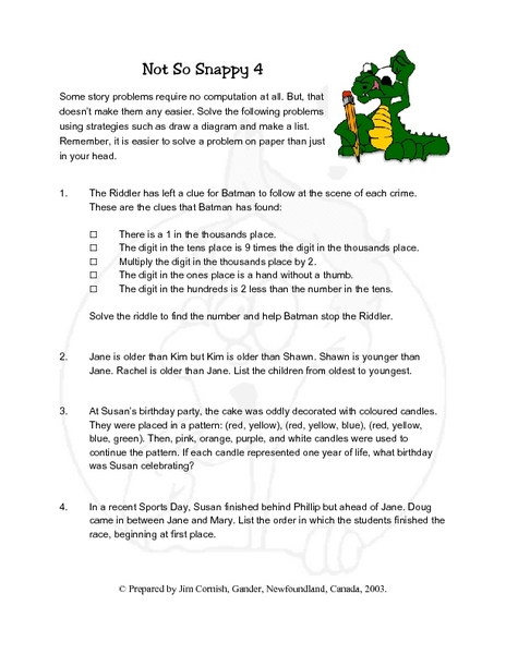 math worksheet : not so snappy 4 4th  5th grade lesson plan  lesson pla  : Snappy Maths Worksheets
