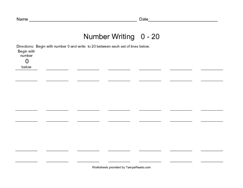Numbers writing practice worksheet-20 | Download Free Numbers ...