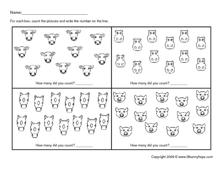 Numbers and Counting 11-14 Kindergarten - 2nd Grade Worksheet ...