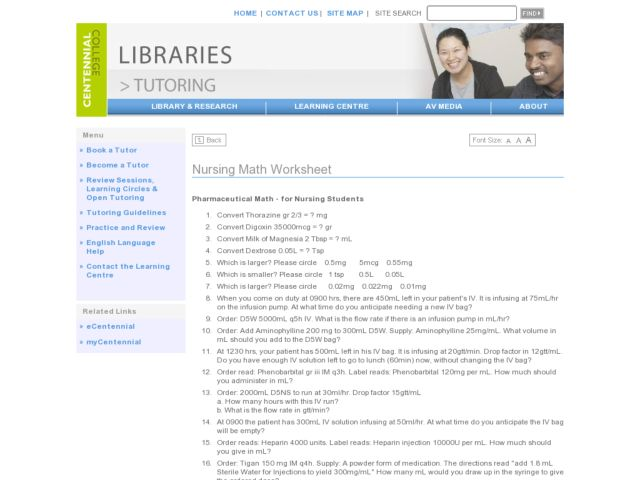 math worksheet : math worksheets for nursing students  educational math activities : Nursing Math Worksheets