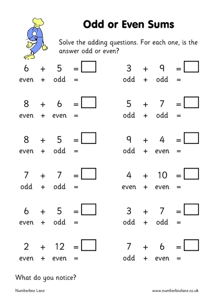Second Grade Math Worksheets Odd And Even - Intrepidpath