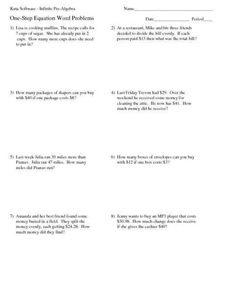 math worksheet : solving multi step equations word problems worksheets  worksheets : Multiple Step Equations Worksheet