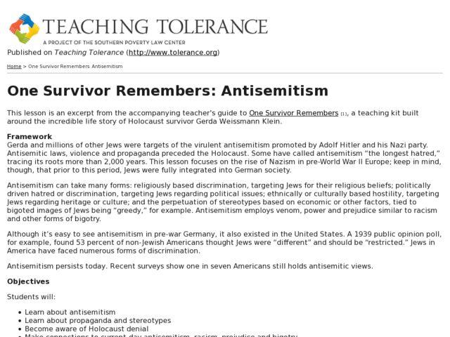 Teaching Religious Tolerance Lesson Plans - Lawteched
