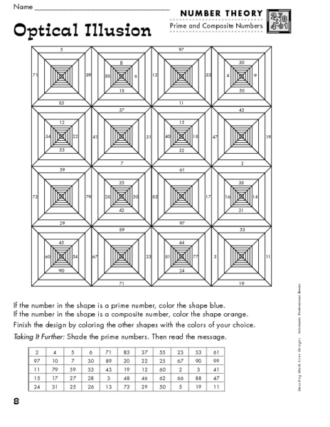 Worksheets Optical Illusion Worksheets optical illusion 7th 9th grade worksheet lesson planet