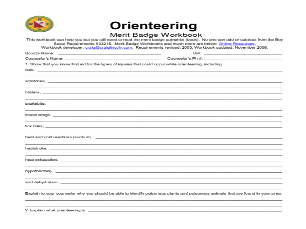 worksheet Weather Merit Badge Worksheet pictures pioneering merit badge worksheet pigmu orienteering davezan