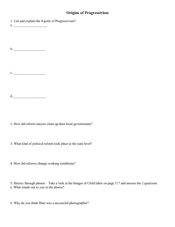 Worksheets Progressive Era Worksheets progressive era worksheets sharebrowse collection of worksheet sharebrowse
