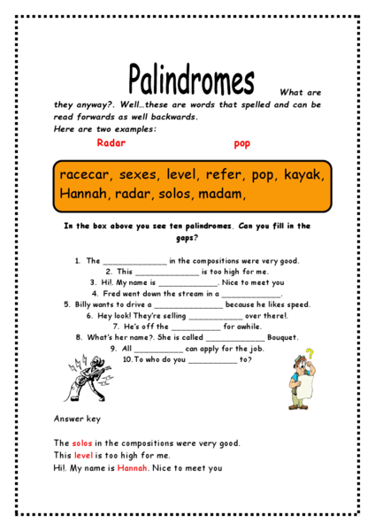 Worksheets Palindrome Riddles Worksheet palindrome riddles worksheet virallyapp printables worksheets palindromes 3rd 4th grade lesson planet
