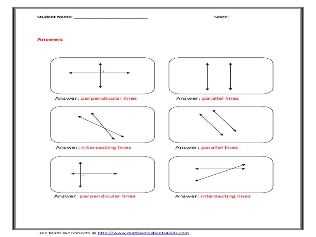 Parallel Lines Worksheet carolinabeachsurfreport – Parallel Lines and Transversals Worksheets