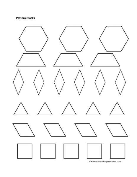 Pattern Block Fractions Worksheet & 17 Best Ideas About Pattern