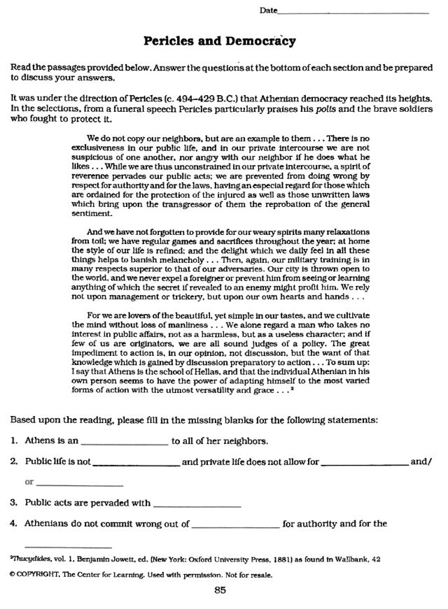World History Worksheets Government In Athens Worksheet – World History Worksheets
