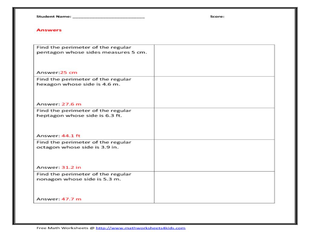 Naming Polygons Worksheet 5th Grade - worksheets on ...  What
