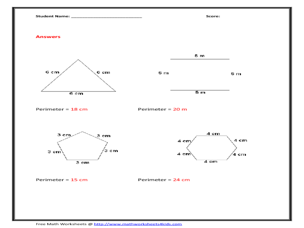 worksheet Areas Of Polygons Worksheet worksheet perimeter of a polygon montrealsocialmedia circumference and area abitlikethis polygons quiz 1 solutions