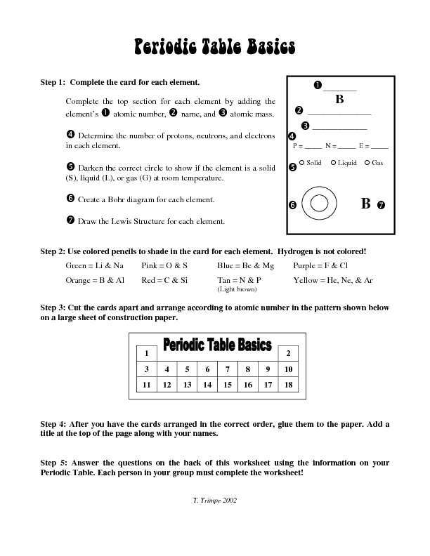 Worksheets Periodic Table Trends Worksheet Answers table trends worksheet answer key delibertad periodic delibertad