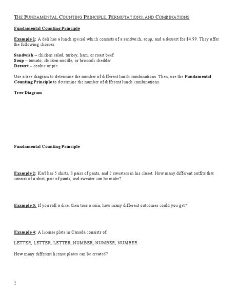 Printables Permutation Worksheet permutation worksheet davezan collection of and combination bloggakuten
