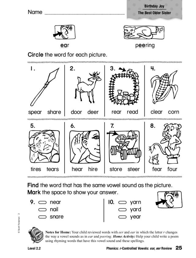Controlled Vowels Worksheets 2nd Grade Sharebrowse – R Controlled Vowels Worksheets