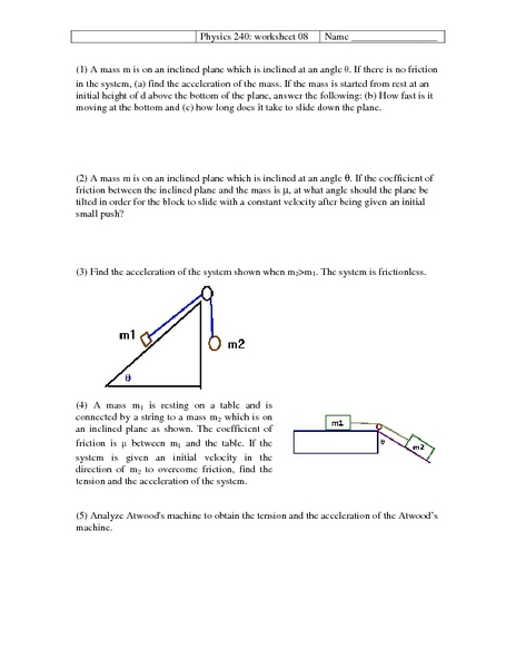 Collection of Coefficient Of Friction Worksheet  Sharebrowse
