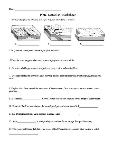 Plate Boundary Worksheet Key - Intrepidpath