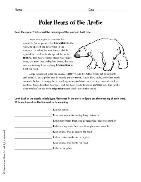 Polar Bear Printable Maze | A to Z Teacher Stuff Printable Pages ...