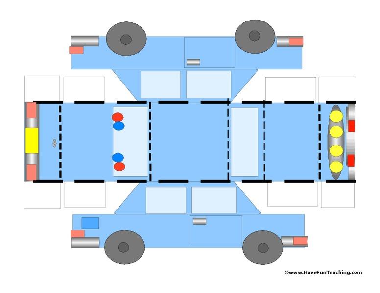 Printable Car Template Printables for KidsColoring Printable – Printable Car Template
