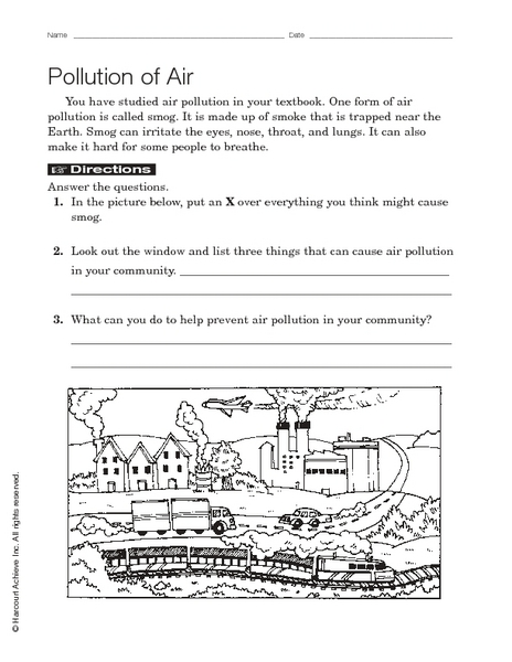 air pollution worksheet free worksheets library download and print worksheets free on. Black Bedroom Furniture Sets. Home Design Ideas