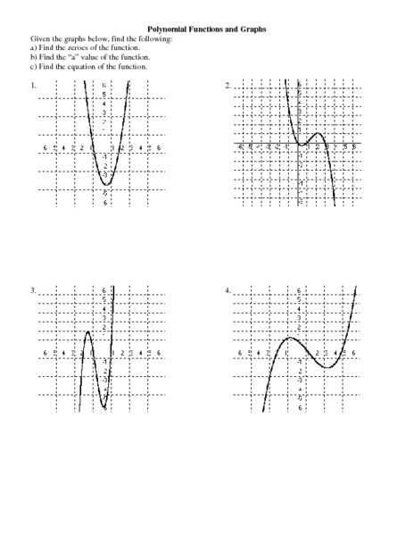 worksheets graphing polynomials worksheet opossumsoft worksheets and printables. Black Bedroom Furniture Sets. Home Design Ideas