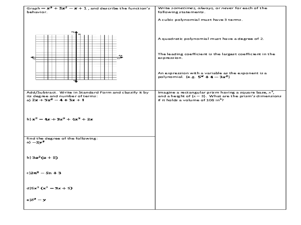 Uncategorized Classifying Polynomials Worksheet classifying polynomials worksheet termolak free phinixi com