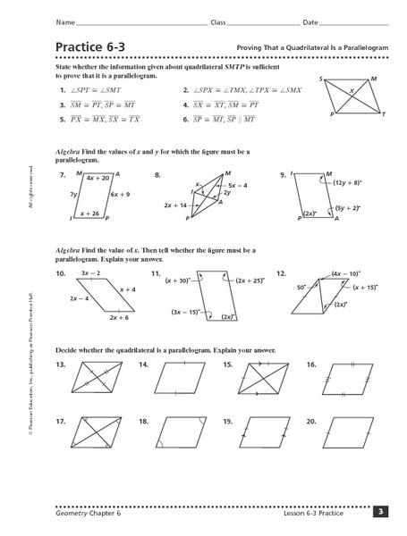 parallelogram worksheets - Termolak