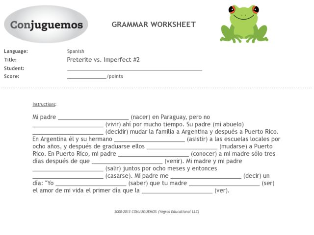 Spanish Preterite And Imperfect Practice Worksheets – Preterite Practice Worksheet