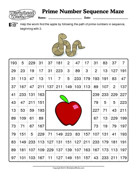 Number Names Worksheets » Prime Numbers Worksheet - Free Printable ...