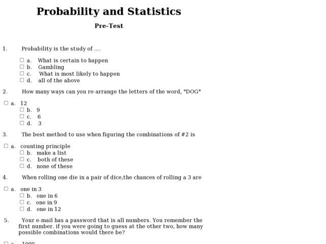 All Worksheets Probability And Statistics Worksheets Printable – Probability and Statistics Worksheets
