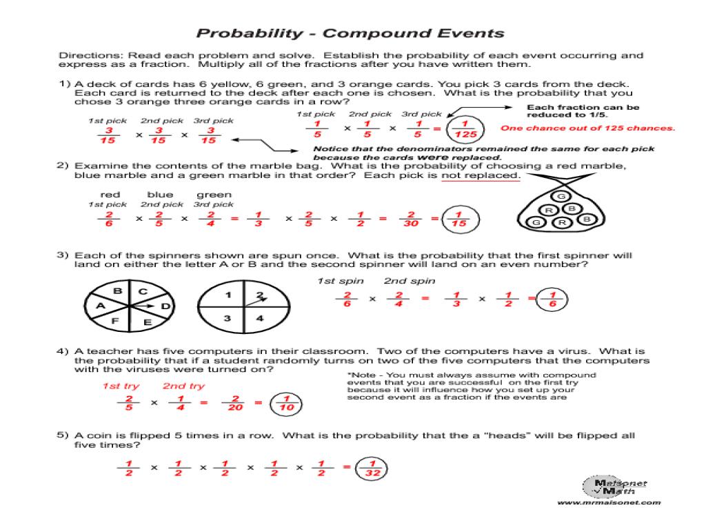 Uncategorized Probability Worksheet probability of compound events worksheet termolak independent and dependent worksheet