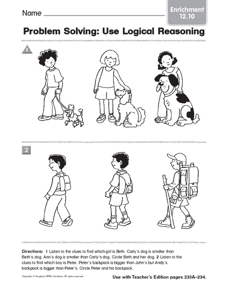Thinking Skills Worksheets For Grade 2 - The Best and Most ...