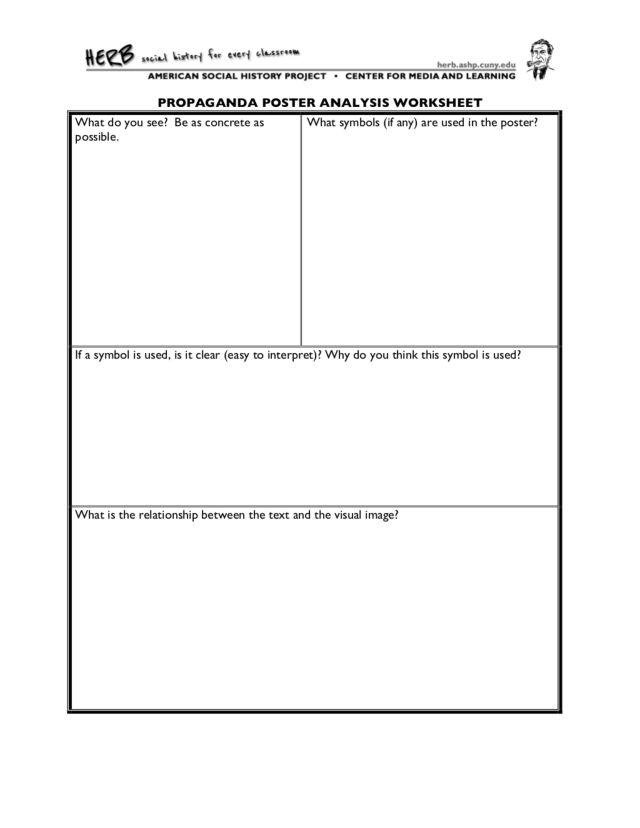 Printables Primary Source Analysis Worksheet propaganda poster analysis worksheet 6th 12th grade lesson planet