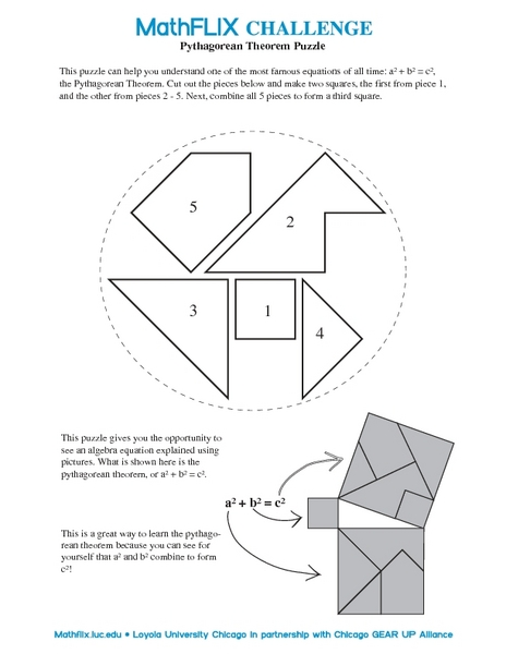 Pythagorean Theorem Puzzle 8th Grade Worksheet | Lesson Planet