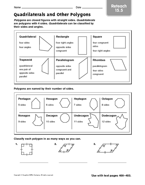 All Worksheets » Quadrilateral Worksheets Grade 4 - Printable ...
