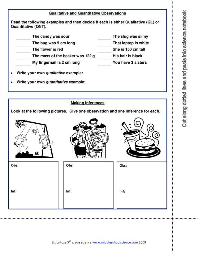 qualitative vs quantitative worksheet Termolak – Qualitative Vs Quantitative Worksheet