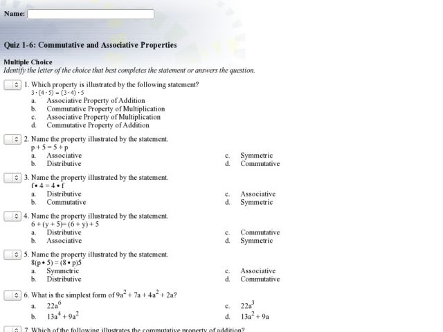 algebra properties worksheet Termolak – Algebraic Properties Worksheet