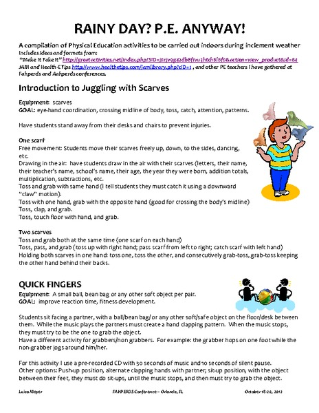 wet weather pe worksheets - The Best and Most Comprehensive Worksheets