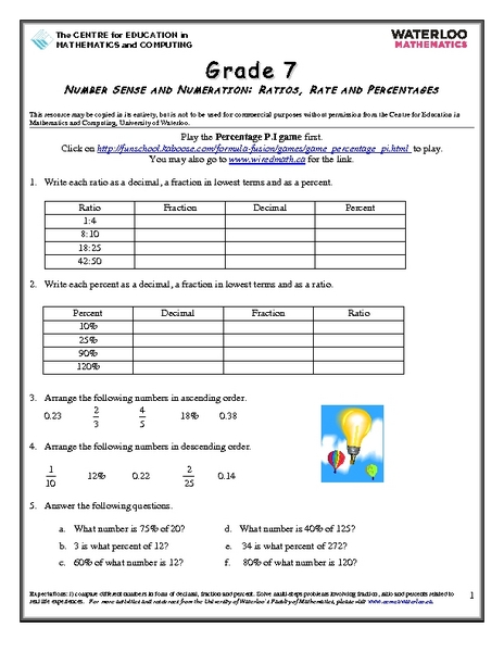 Printables Rates And Ratios Worksheets rate and ratio worksheets versaldobip ratios rates percentages 6th grade worksheet lesson planet