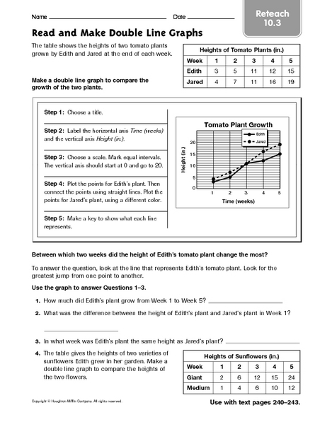 double bar graph worksheets 6th grade graph worksheets learning to work with charts and. Black Bedroom Furniture Sets. Home Design Ideas