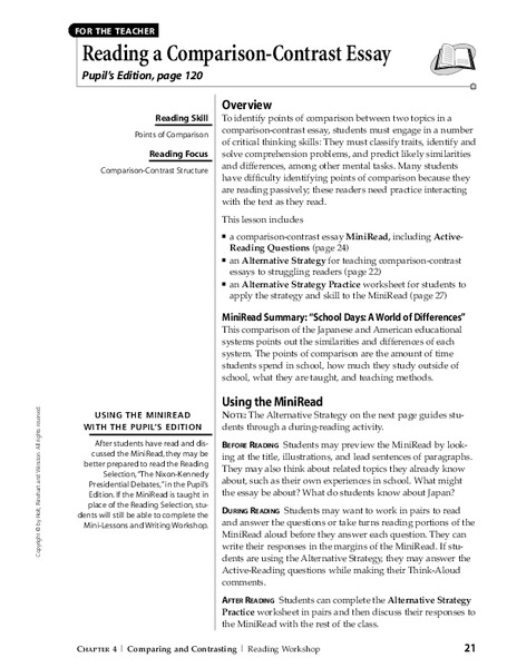 ways to start compare and contrast essays  · how to start off a compare and contrast essay or the context within which you place the two things you plan to compare and contrast in your essay.