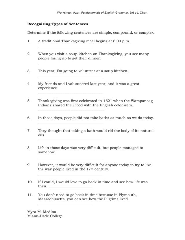 Recognizing Types of Sentences 4th 6th Grade Worksheet – Types of Sentences Worksheets