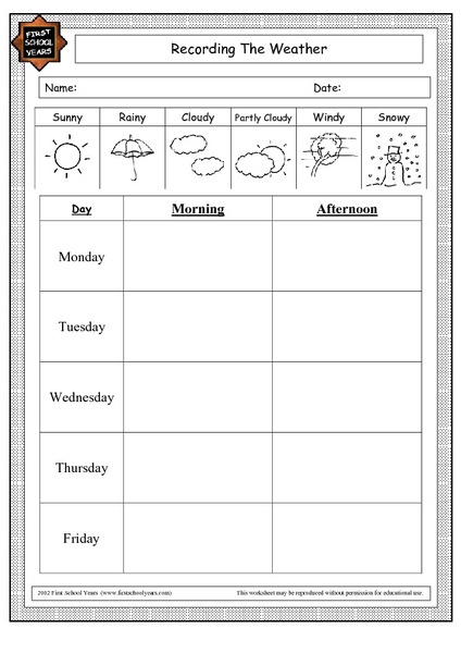 Weather Worksheets For Second Grade Weather Best Free