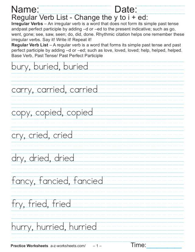verb tense list 3rd grade past tense worksheets and verb tenses on pinterestlist of irregular. Black Bedroom Furniture Sets. Home Design Ideas