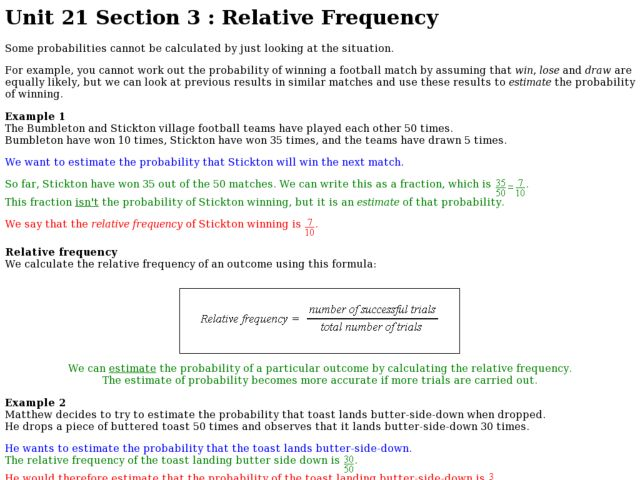 Relative Frequency 6th - 7th Grade Worksheet | Lesson Planet